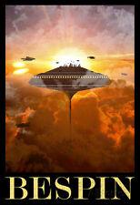 Star Wars Bespin Retro Travel Poster Movie Poster Print, 13x19
