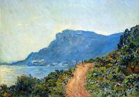 Art Oil painting Claude Monet - Claude La Corniche Sun impressionism landscape