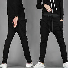 Mens Slim Fit Tracksuit Bottoms Skinny Jogging Sweat Pants Gym Trousers Casual H