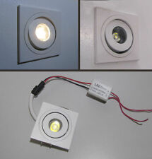FARETTO QUADRATO ORIENTABILE DA INCASSO - MINI SPOT LED per uso interno da 1 W