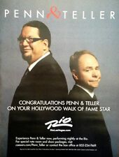 PENN & TELLER Hollywood Walk of Fame Congratulations ad from Rio Las Vegas