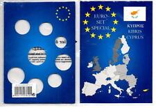 Set 8 Monete 1 Cent A 2 Euro Faro Europa Carta Display Per Cipro
