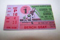 1970s GEORGIE TECH vs GEORGIA ncaa basketball ticket