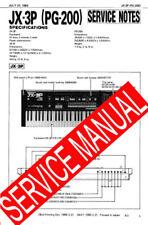 ROLAND JX3P JX-3P / PG-200 PG200 REPAIR /SERVICE MANUAL w/Schematics