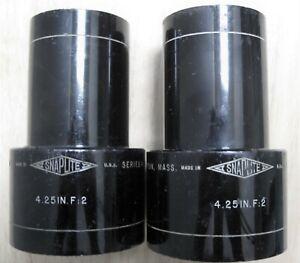 "KOLLMORGEN 4.25"" F 2 SERIES II SNAPLIGHT HIGH LIGHT OUTPUT 35MM PROJECTOR LENSES"