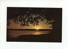 Vintage Post Card - Sunset at Beaver Lake Nature Center - Baldwinsville NY