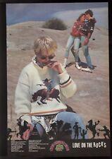 "1986 Camp Beverly Hills  "" Love on the Rocks ""  BIG  vintage print ad"
