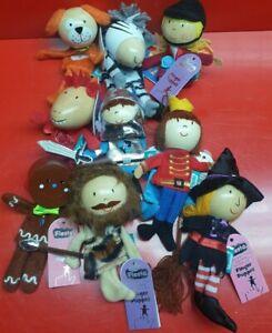 9 x Finger Puppets Character Theme Play Fiesta Kids Set FP2