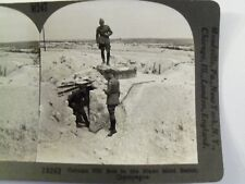 WW1 GERMAN PILL BOX IN THE BLANC MONT SECTOR CHAMPAGNE! KEYSTONE STEREOVIEW CARD