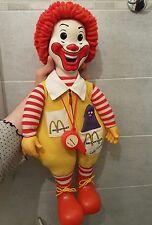 BAMBOLA CLOWN Ronald Mc Donald's VINTAGE ANNI 70 Molto raro!Occasione! 55cm 🎅😉
