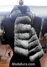 Women's New Real Chinchilla Fur Cape Scarf Wrap Shawl