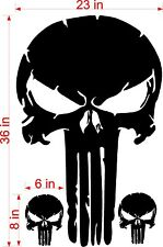 "36"" DISTRESSED PUNISHER SKULL VINYL DECAL JEEP HOOD FORD CHEVY DODGE"