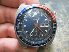 MENS Seiko CHRONOGRAPH Automatic DAY/DATE Stainless Steel Running Watch