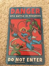 The AMAZING SPIDER-MAN Do Not Enter Book Cover Metal Sign - Open Road Brand