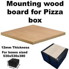 Motorcycle Scooter Food Pizza Delivery Top Box Mounting Board Wood - Large