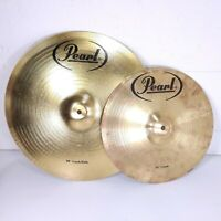 "Pearl 18"" Crash Ride and 14"" Crash Cymbals - Great Lightly Used Condition"
