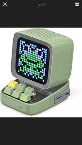 Divoom Ditoo Programmable Pixel Art Led Bluetooth Speaker Showing Clock Emoji Di