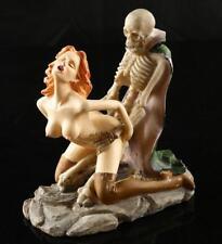 Women Ghost Sex Skeleton Skull Halloween Statue Resin Decor Sculpture