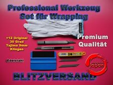 Car Wrapping, 3M Rakel, 30° Grad Cuttermesser Made in Japan +12 Tajima Klingen