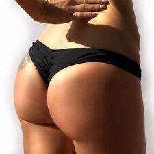 2017 Womens Swimwear Brazilian Cheeky Bikini V-Bottom Thong Bathing Swimsuit SFC