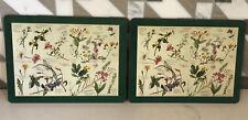 "Rare Vintage Pimpernel Horticultural Wild Flowers Cork Placemats 12""x9"""