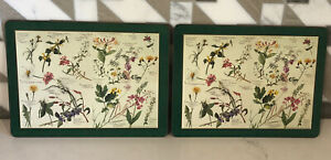 "Rare Vintage Pimpernel Horticultural Wild Flowers Cork Placemats 12""x9"""