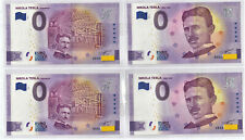 SET Nikola Tesla XEGX 2020- 1 + 2 ANNIVERSARY + Normal 1 + 2 - 0 Euro Souvenir