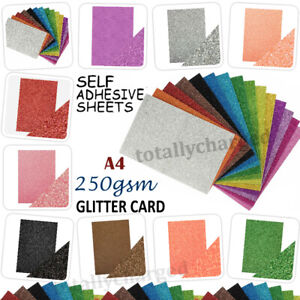 A4 Glitter Card Cardstock Premium Quality Low Shed 250gsm - 18 Colours + Mixed