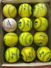 "12 single game used Dudley Thunder Usssa 12 "" inch softballs Sy 12 Rf 40"