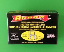 "(300/PACK) Arrow 591189 CLEAR 5/16"" (8mm) x 5/16"" (8mm) Insulated Staples- CLEAR"