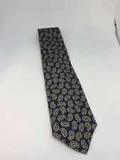 J CREW Blue Paisley Mens Tie Made By Hand 100% Silk
