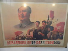 vintage,1960's,1980's,chinese,poster,chairman mao,propaganda,workers,revolution