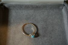 Antique 10K Yellow Gold Sleeping Beauty Turquoise Ring!