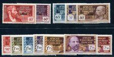 AEF 1940 Yvert 105-123 ex ** POSTFRISCH TADELLOS 12 WERTE (F0011