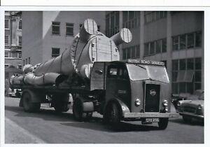 B/W PHOTO: BRITISH ROAD SERVICES SEDDON ARTIC FLAT TRAILER - SRB 296 - 3D109