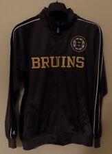 Boston Bruins Reflective Full Zip Track Jacket XL Gray Embroidered Logos NHL