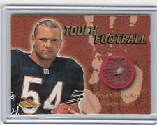 BRIAN URLACHER 2000 FLEER SHOWCASE ROOKIE TOUCH FOOTBALL PIECE OF BALL CARD