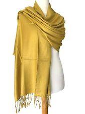 Pashmina Yellow Wrap Ladies Mustard Shawl Wedding Bridesmaid Fair Trade Scarf