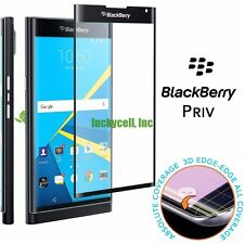 """Full Cover"" Curved Corning Tempered Glass Screen Protector For Blackberry Priv"