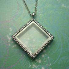Diamond Locket Necklace Sparkling
