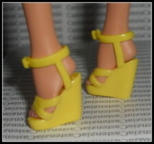 SHOES BARBIE DOLL MODEL MUSE YELLOW CYNTHIA ROWLEY STRAPPY SANDALS HIGH HEEL