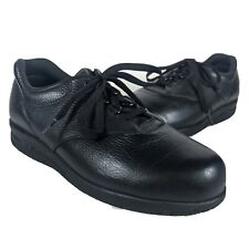 SAS Whisper Womens Lace Up Shoes Black Leather 8.5 W Wide Width Slip Resistant