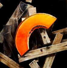 "Painting by Yosvany Arango Oil on Canvas Original Cuban Art 18x18 ""Papaya"""