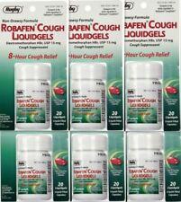 ROBAFEN Dextromethorphan Cough Gels 8hr Relief 20ct - ( 6 pack ) EXp: 01/2022