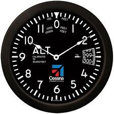 "Trintec Massive CESSNA 14"" Aviation Classic Altimeter Wall Clock 9060-14 Aviatri"