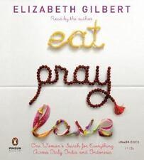 Eat, Pray, Love by Elizabeth Gilbert Read by Author Unabridged 11 CDs Audio Book