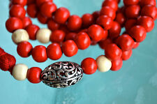 108 Wooden Dyed Handmade Mala Beads Necklace-Bless