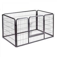 4 Panel Pet Play Pen Dog Puppy Animal Rabbit Small Cage Run Garden Playpen Fence
