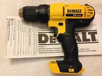 "New Dewalt DCD771B 20 Volt 20V Max 1/2"" 2 Speed Drill Driver Lithium Ion"