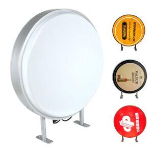 "Light Box 24"" Circular Round LED Projecting Double Sided Blank Illuminated Sign"